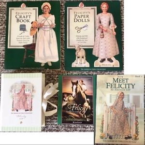 Lot American Girl Felicity Craft Book Paper Mini